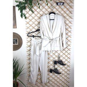 Printed Cream Suit